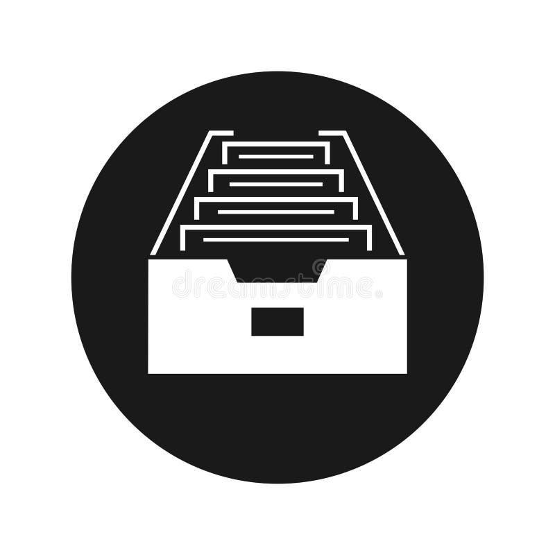 文件夹档案内阁象浅黑圆的按钮传染媒介例证 库存例证