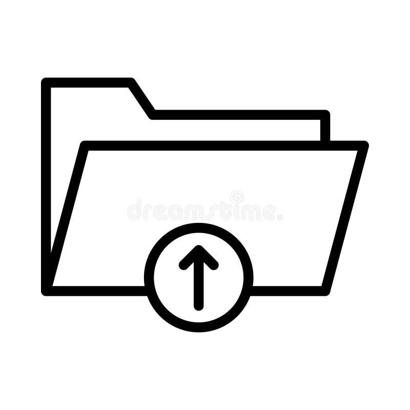 文件夹稀薄的linet传染媒介象 库存例证