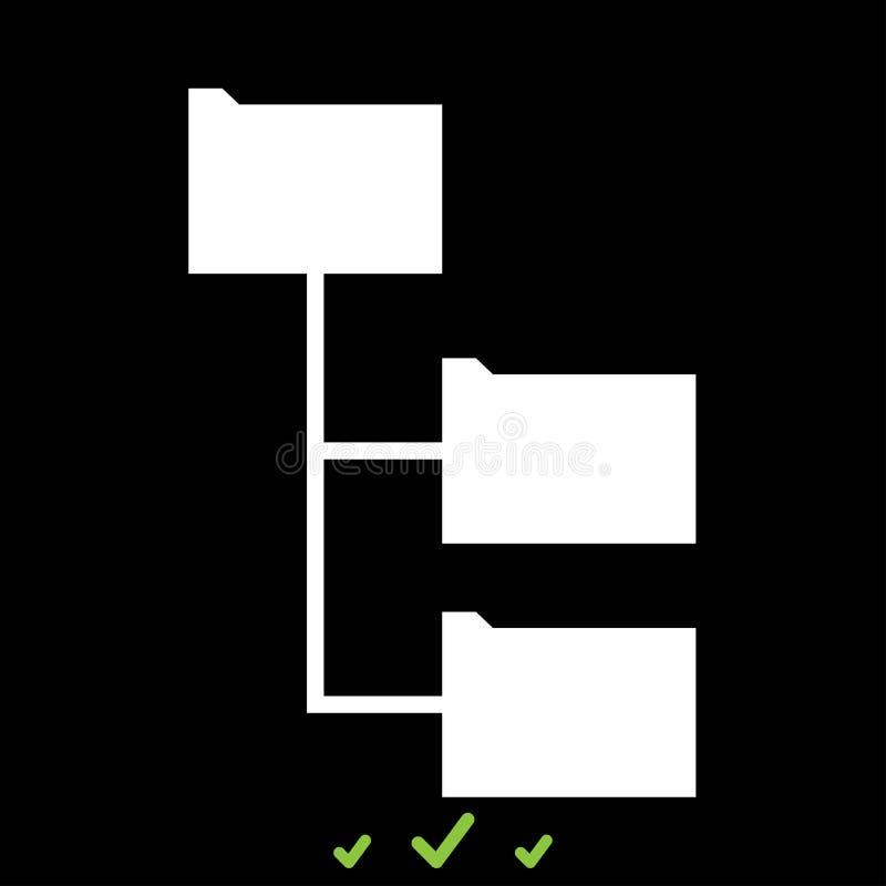 文件夹结构它是白色象 皇族释放例证