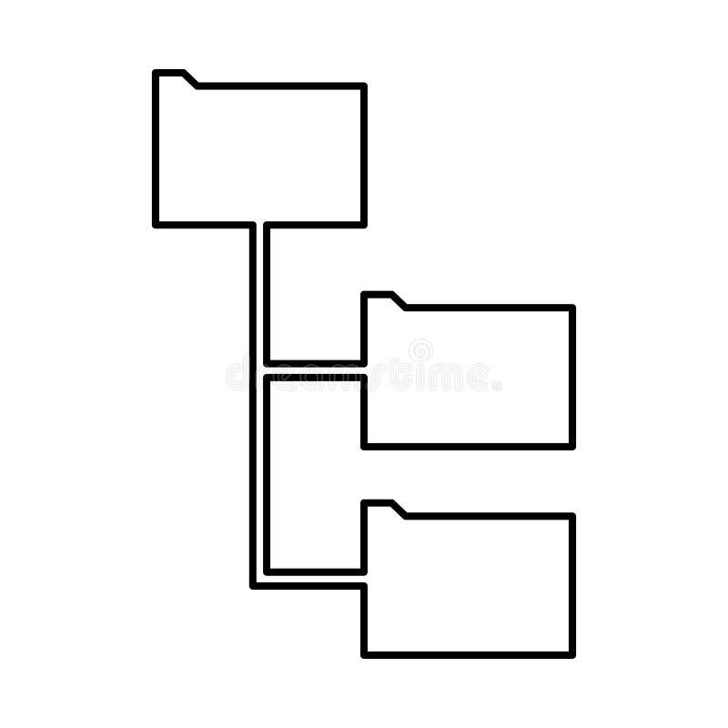 文件夹结构它是黑象 向量例证