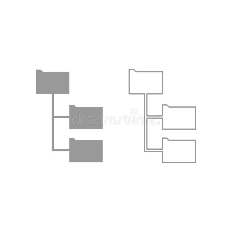 文件夹结构象 灰色集合 皇族释放例证