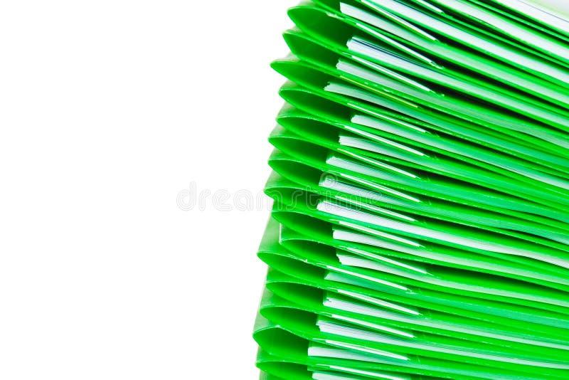 文件夹绿色塑料 免版税库存图片