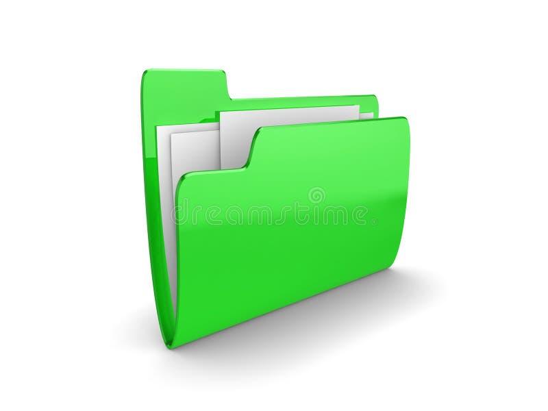 文件夹绿色 皇族释放例证
