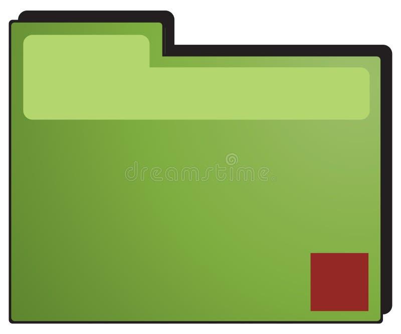 文件夹绿色 库存例证
