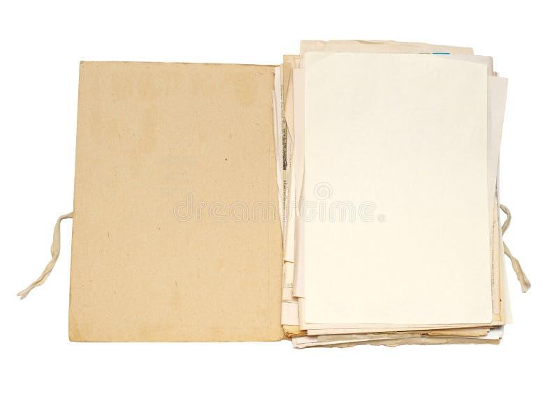 文件夹老纸张 库存照片