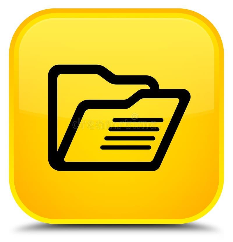 文件夹象特别黄色方形的按钮 皇族释放例证