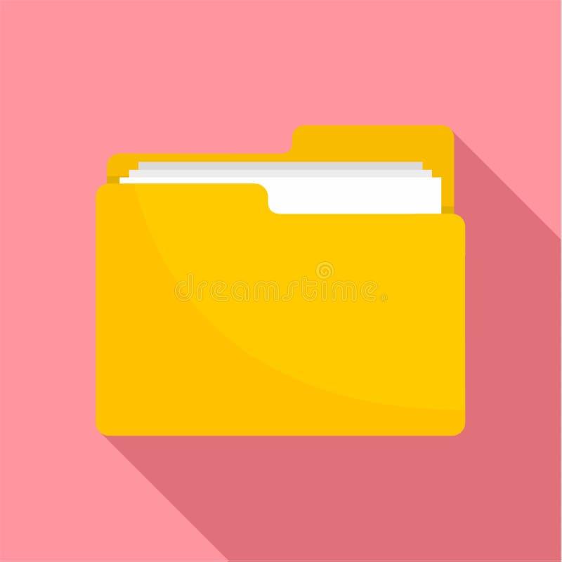 文件夹象,平的样式 库存例证