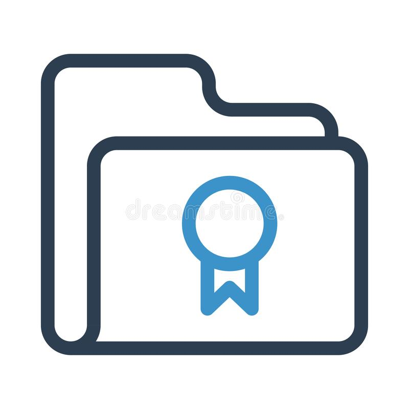 文件夹质量线象 库存例证