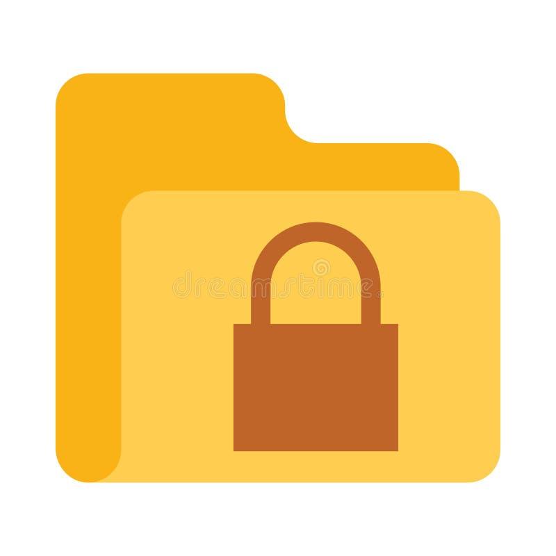 文件夹锁颜色传染媒介象 向量例证