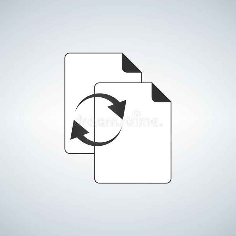文件或文件同步象适用于信息图表、网站和打印装置和接口 也corel凹道例证向量 向量例证