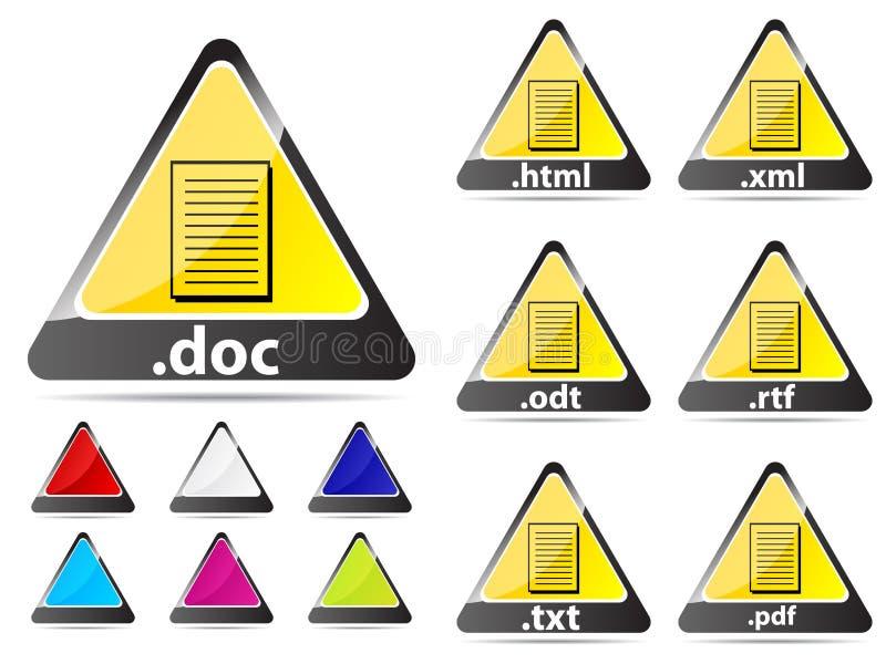 文件扩展名图标 向量例证