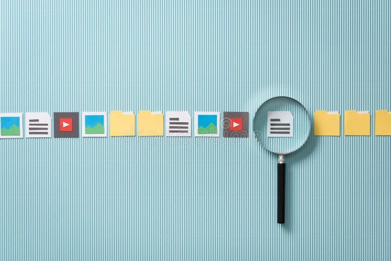 文件查寻和分析 库存图片