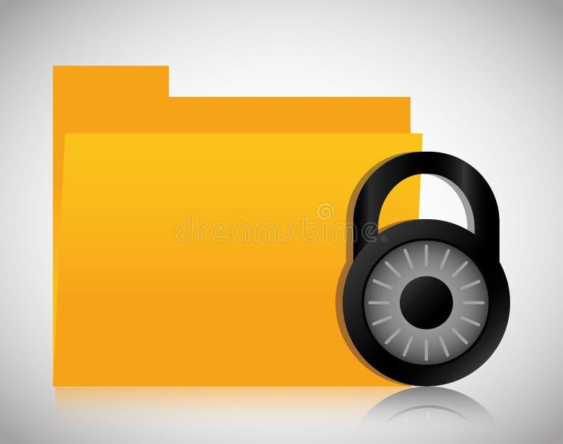 文件档案挂锁数据中心网络主持 背景装饰图象风格化漩涡向量挥动 向量例证