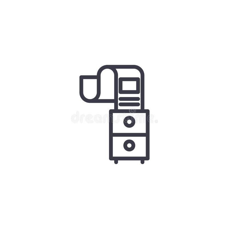 文件流线性象概念 文件流线传染媒介标志,标志,例证 皇族释放例证