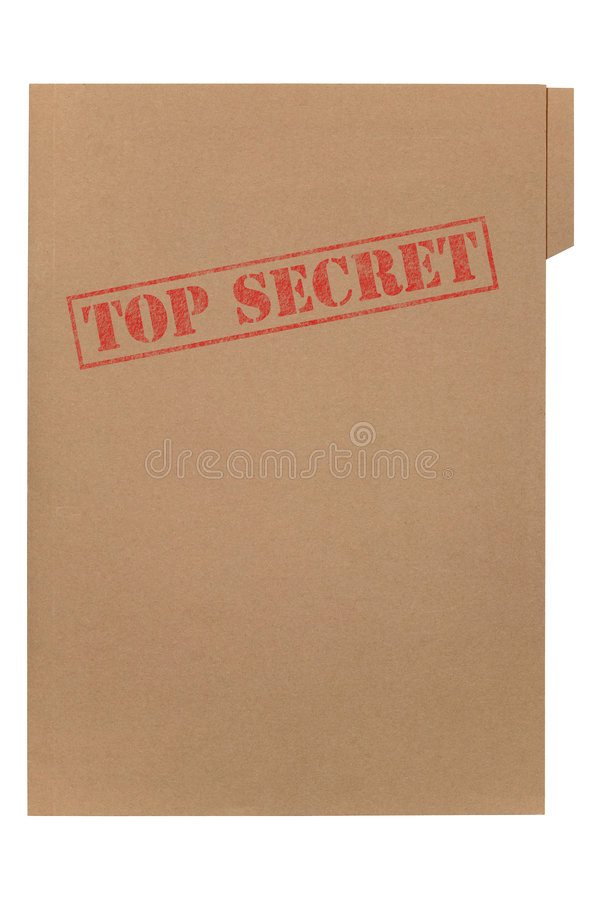 文件秘密顶层 免版税库存照片