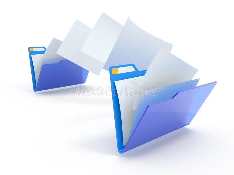 文件移动 向量例证