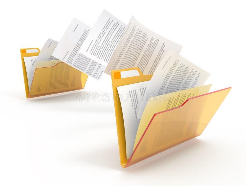 文件移动 皇族释放例证
