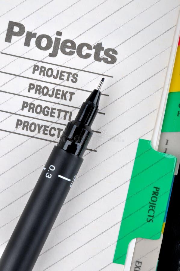文件笔项目 库存照片