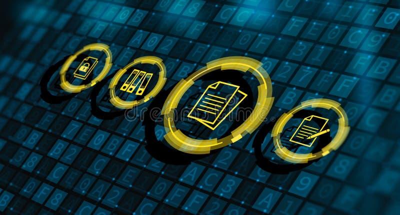 文件管理数据系统企业互联网概念 库存例证
