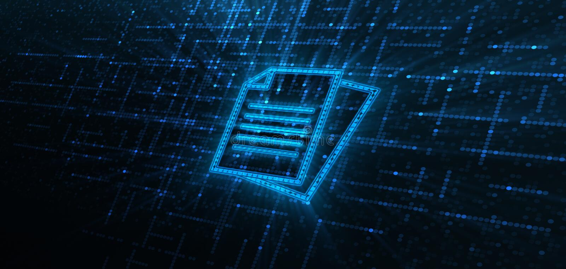 文件管理数据系统企业技术概念 向量例证