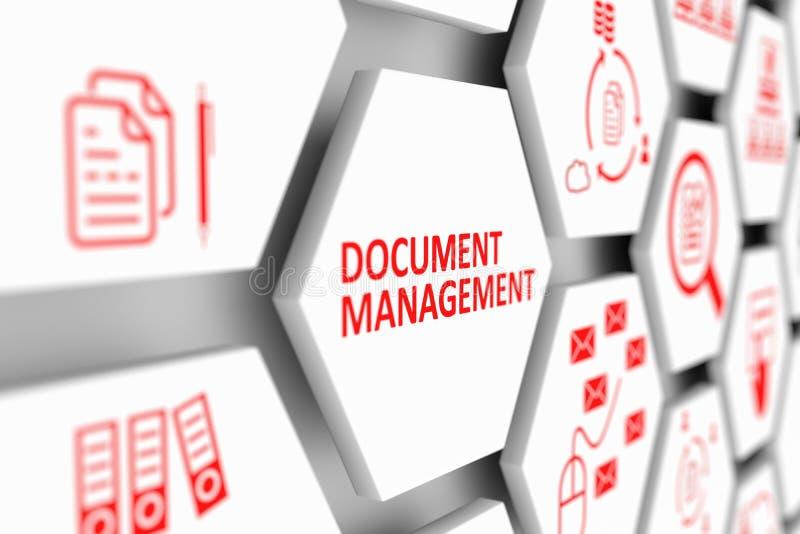 文件管理概念 库存例证