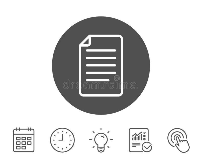 文件管理线象 文件标志 库存例证