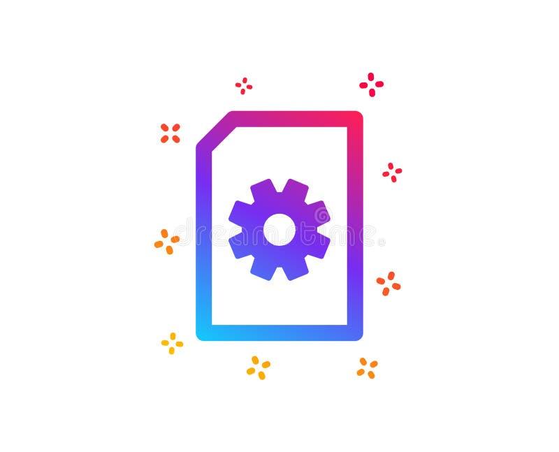 文件管理象 与钝齿轮的文件 ?? 向量例证
