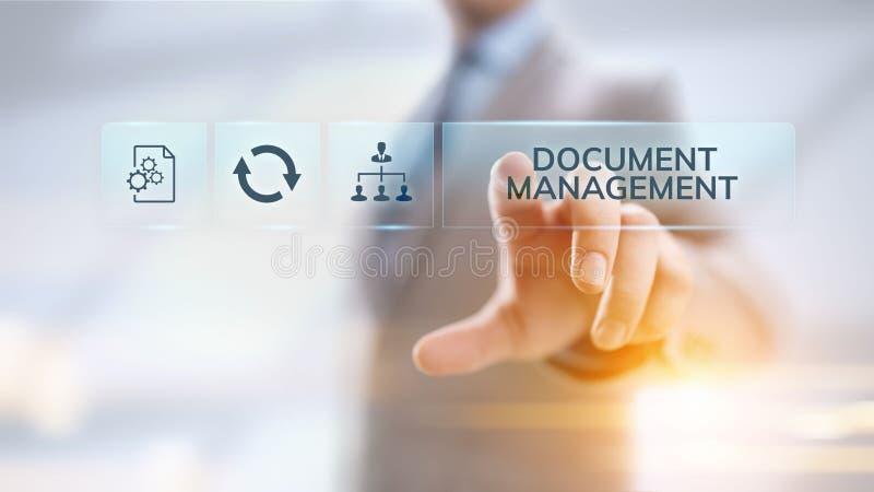 文件管理DMS系统数字权利管理 库存例证
