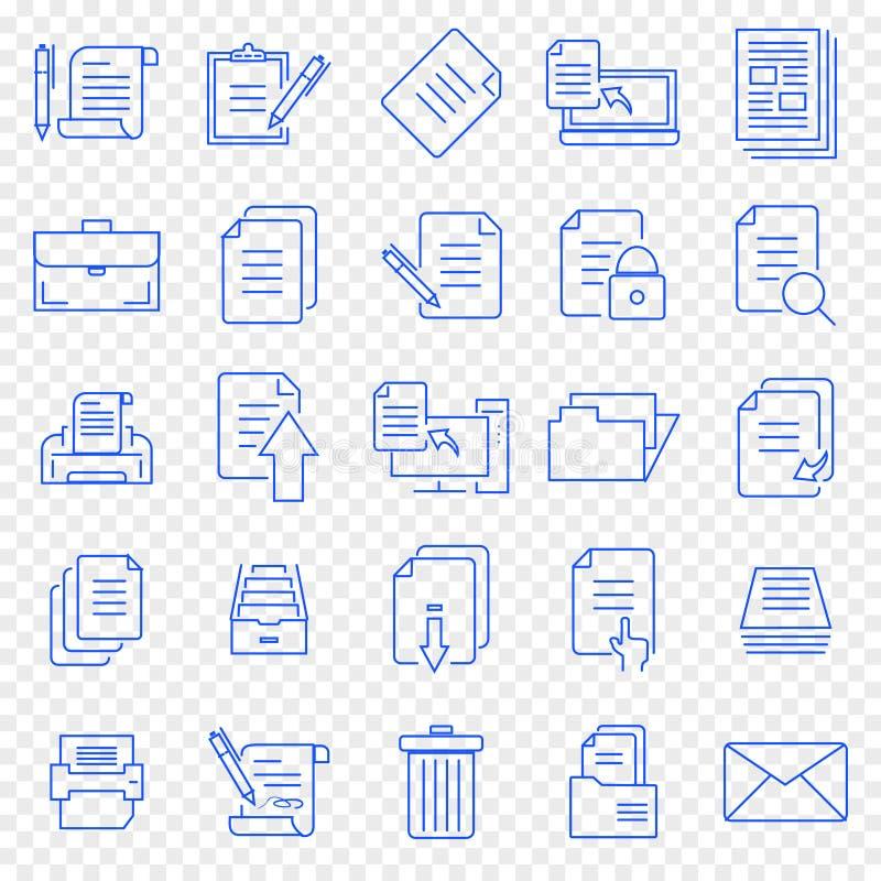 文件象集合 25个传染媒介象包装 皇族释放例证