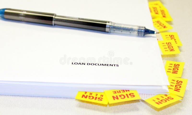 文件贷款 免版税图库摄影