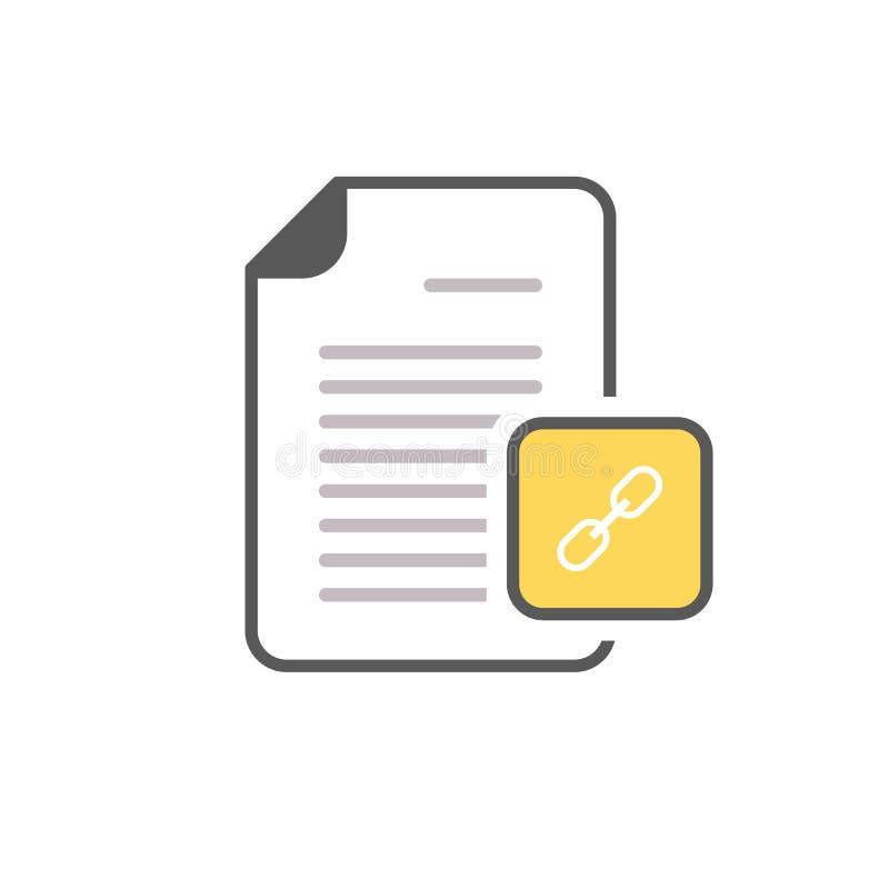 文件超链接互联网链接页weblink象 库存例证