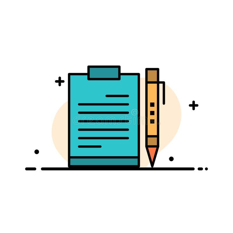文件,事务,剪贴板,文件,页,计划,板料企业平的线填装了象传染媒介横幅模板 皇族释放例证