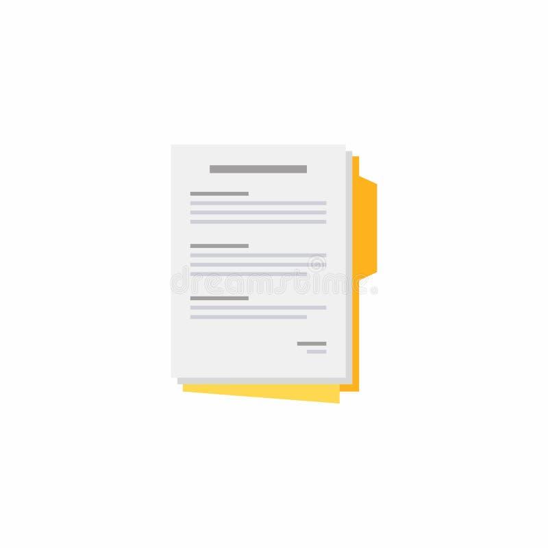 文件,合同纸,传染媒介,平的象 皇族释放例证