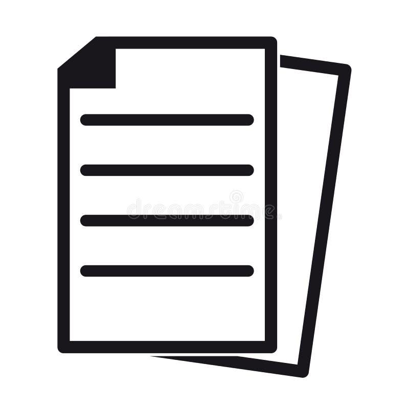 文件-编辑可能的传染媒介象 库存例证
