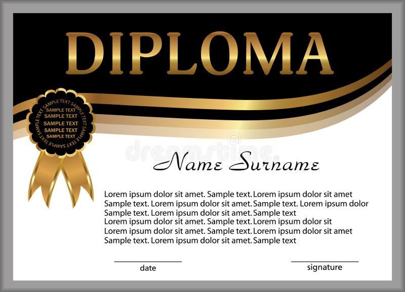 文凭或证明 奖励 赢取竞争 可怕的 向量例证