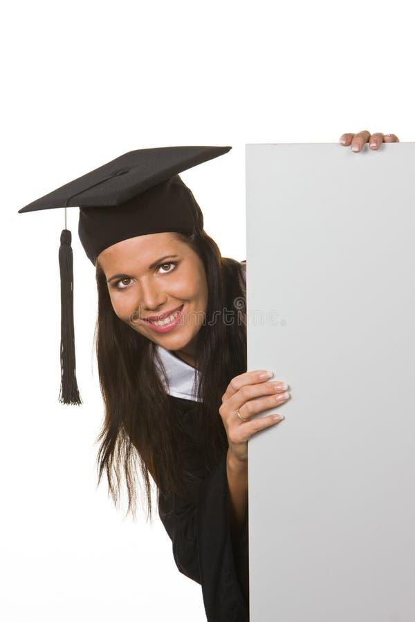 文凭毕业的妇女年轻人 库存照片