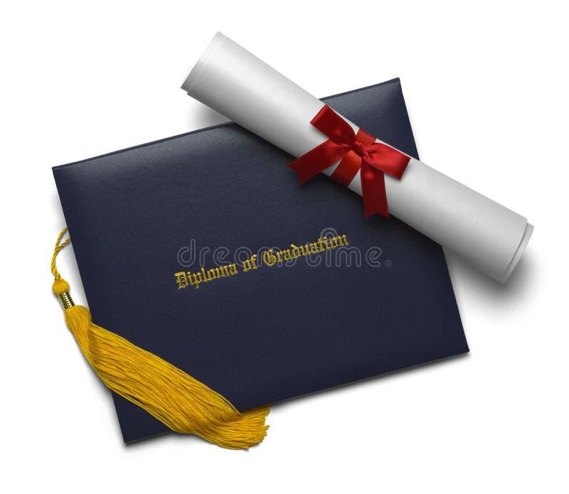 文凭纸卷和缨子 免版税库存照片