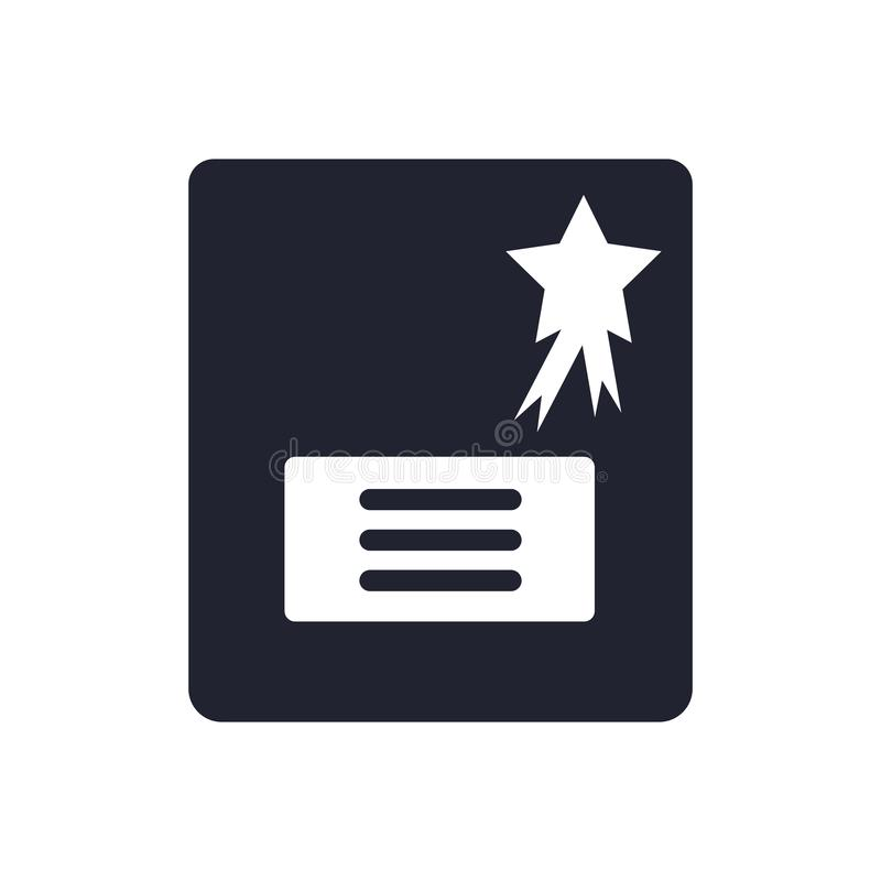 文凭象在白色背景和标志隔绝的传染媒介标志,文凭商标概念 皇族释放例证