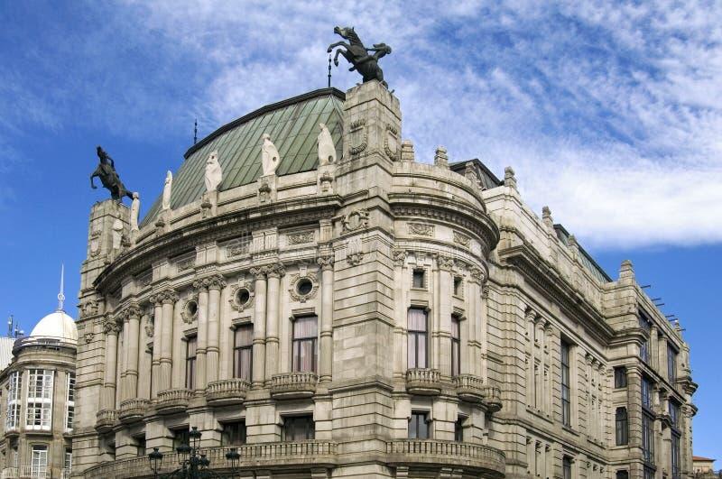 文化中心前剧院加西亚比戈Barbon  免版税图库摄影