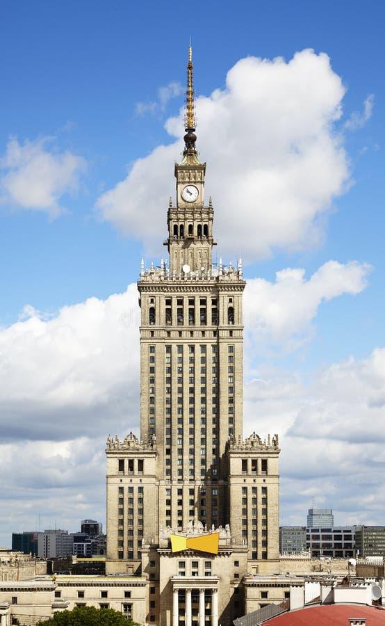 文化宫殿波兰科学华沙 免版税库存图片