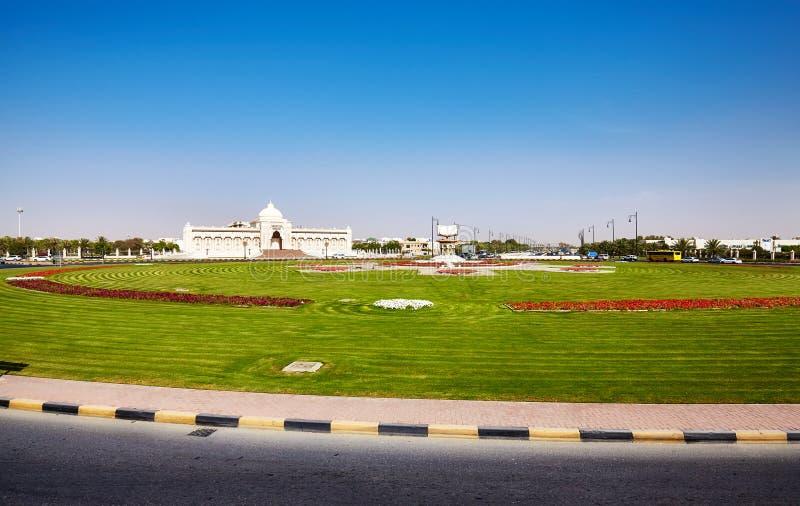 文化广场在沙扎,阿联酋 免版税库存图片
