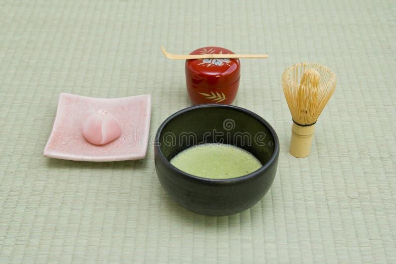 文化日本人茶 免版税库存图片