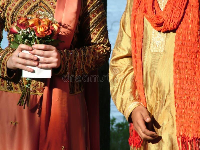 文化相互婚礼 免版税图库摄影