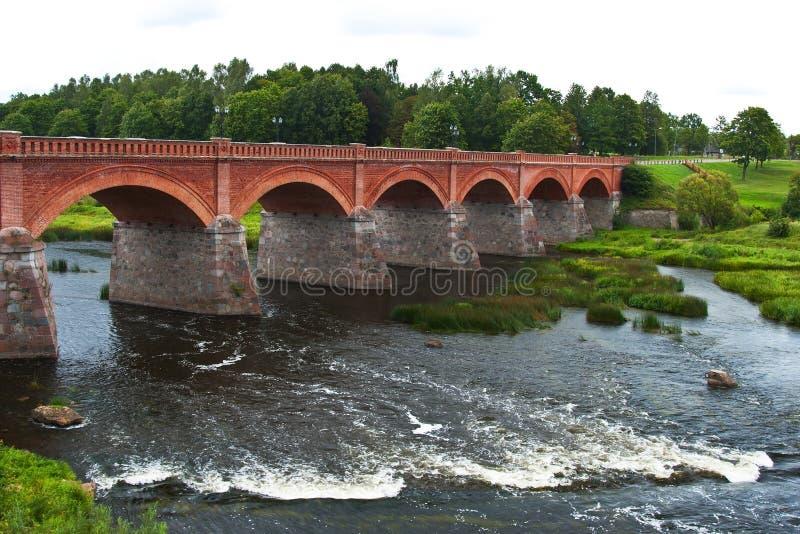 文塔瀑布,最宽的瀑布在欧洲, Kuldiga,拉脱维亚 库存图片