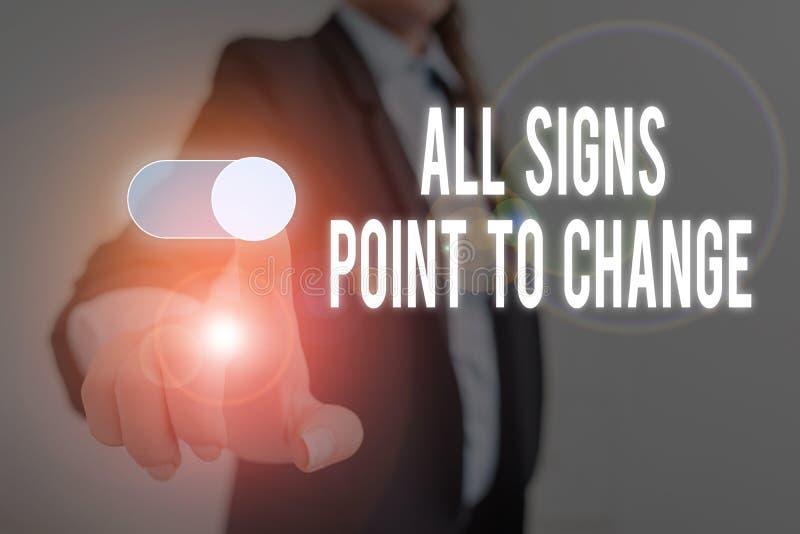 文字书写文本所有符号指向要更改 商业观念:做事必要性的新视野 库存照片