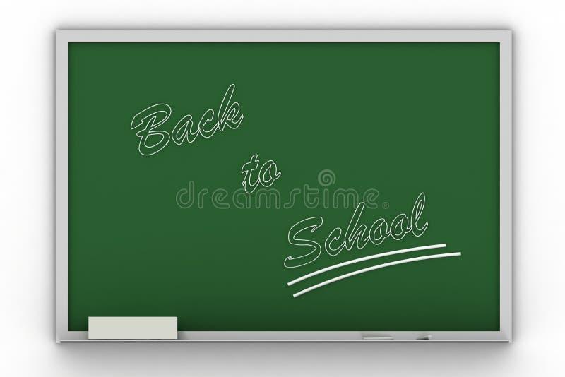 文字的回到blac学校 库存例证