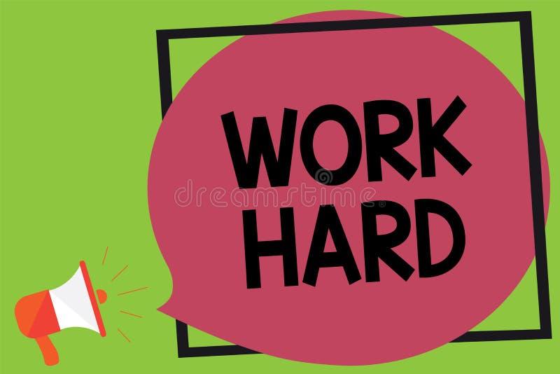 文字笔记努力陈列工作 陈列企业的照片劳动那付出努力做和完成任务 库存例证