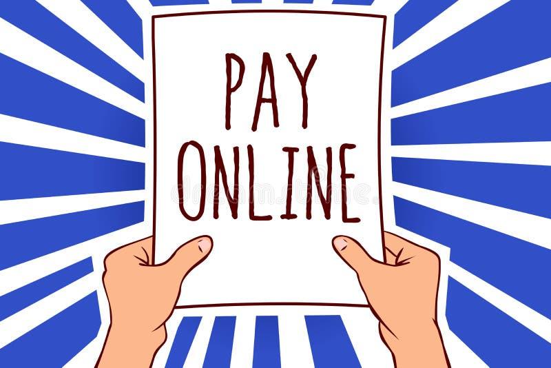 文字笔记在网上陈列薪水 企业照片陈列的购买产品或服务使用信用卡在举行pa的任何网站人 皇族释放例证