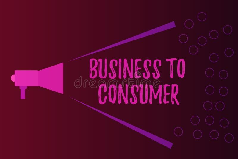 文字笔记对消费者的演艺界 陈列在公司和终端用户之间的企业照片直接交易 皇族释放例证
