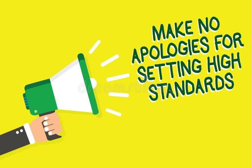 文字笔记陈列不做出为规定高标准的道歉 企业照片陈列的寻找的质量生产力人举行 向量例证